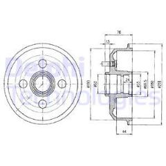 Brake Drum Rear 180mm without abs (priced each)